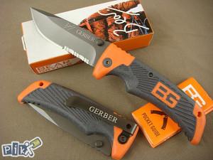 Preklopni nož cakija GERBER, Bear Grylls Scout NOVO