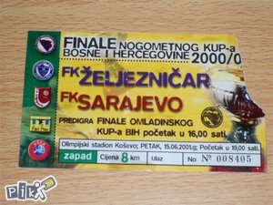 Ulaznica Željo -  FK Sarajevo