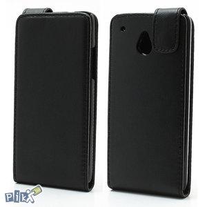 Vertikalna flip magnet kozna futrola za HTC One Mini  crna