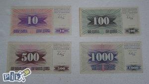10, 100, 500 i 1000 dinara, RBiH