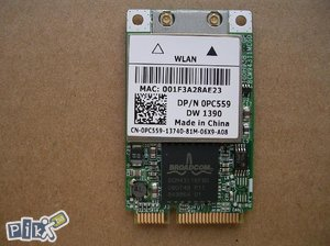 Broadcom Mini PCIe Wireless kartica