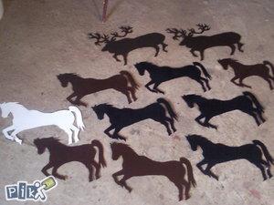 Ukrasi za ogradu i kapiju,jelen i konj
