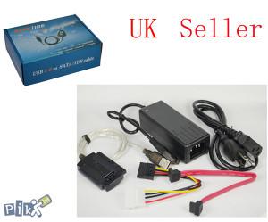"""NOV  USB adapter za HDD/CD/DVD ATA/SATA 2,5""""/3,5"""""""