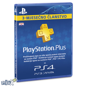 PlayStation Plus 90 dana Hrvatska PS PS4 PSN Hr