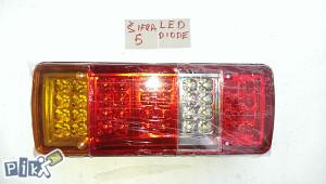 Stop lampe led diode sifra 5, 12-24v