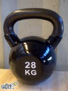 Girja Girje 28kg Crna Rusko zvono Kettlebell 28kg