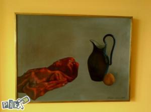 """Umjetnička slika, Salim Obralić """"Mrtva priroda"""""""