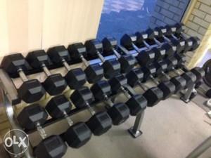 Set profi hex tegova sve težine od 2.5kg-40kg bučice