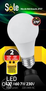 led žarulje 7W E27 SOLE žarulja-rasvjeta Top ponuda