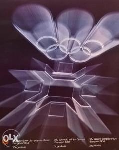 Olimpijski poster Sarajevo 84 - Rijetko !