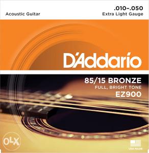 Daddario EZ900 zice za akusticnu gitaru .010-.050